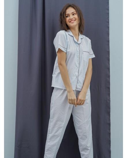 marien blue short woman