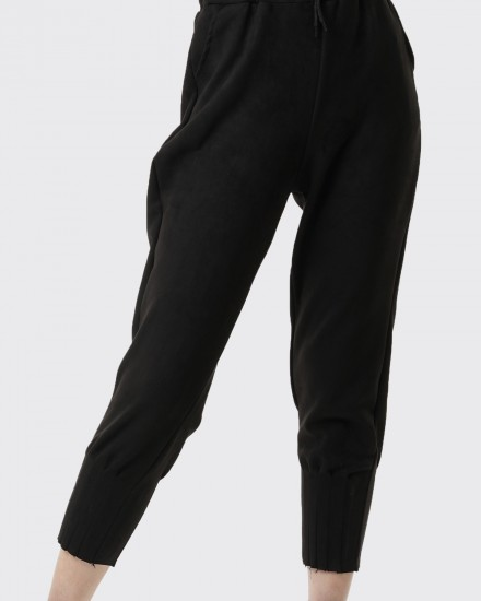 philomela suede black pants