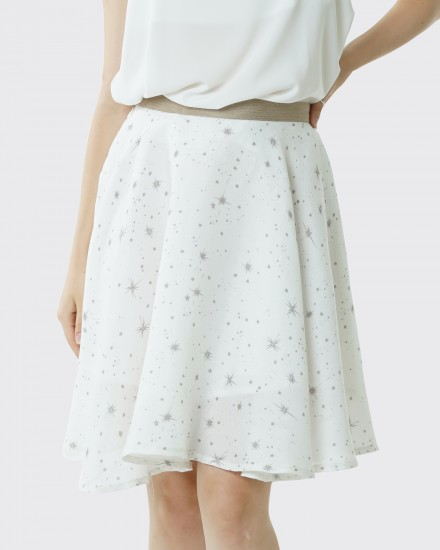 daisy star white skirt