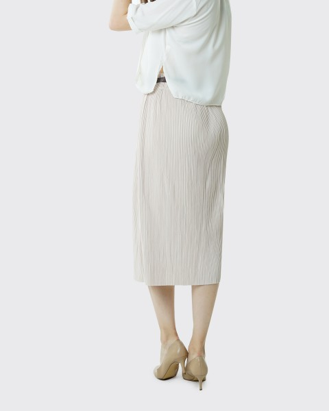 fennel pleats beige skirt