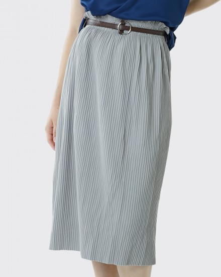 fennel pleats grey skirt