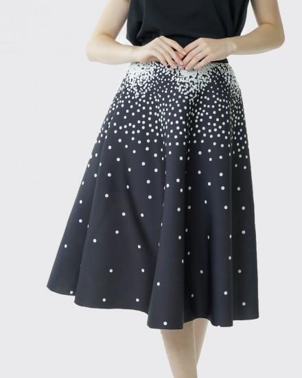 sparkling black skirt