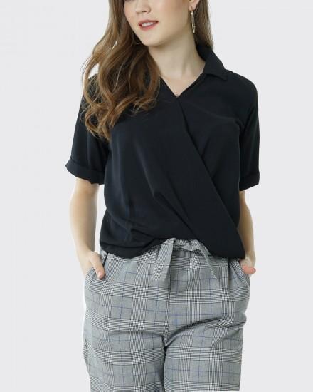 Swirl shirt black