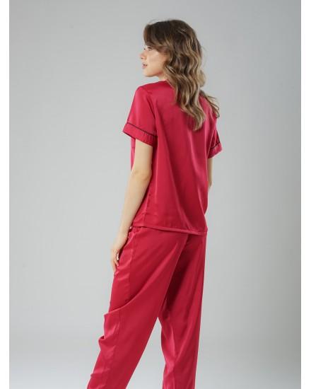 Royal silk maroon pants 3 in 1