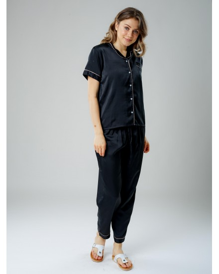 Royal silk black pants 3 in 1