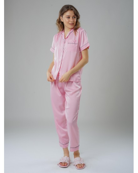 Royal silk pink pants 3 in 1