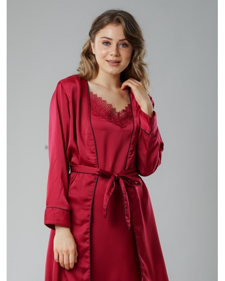 royal silk maroon outer