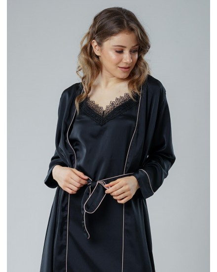 royal silk black outer