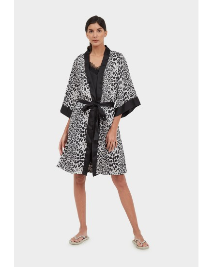 royal silk white leopard outer