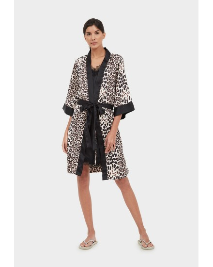royal silk brown leopard outer