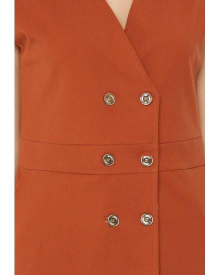 michella button vest