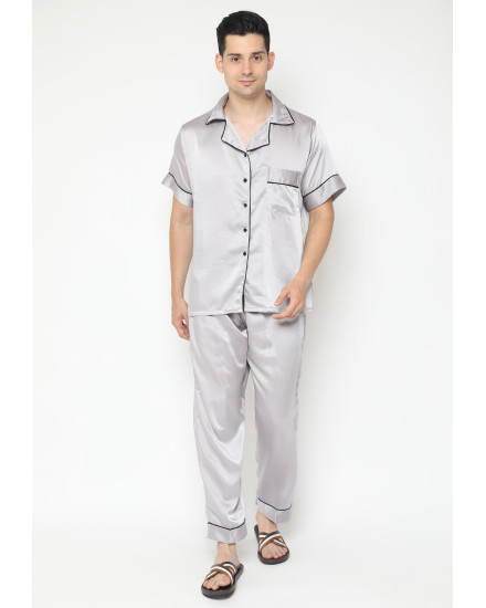 satin couple grey man