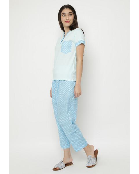 kate blue long pants