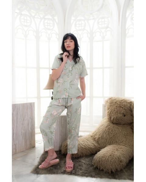 Chloe green long pants