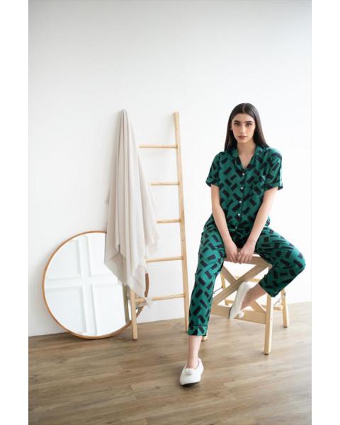 Esma Green Long Pants